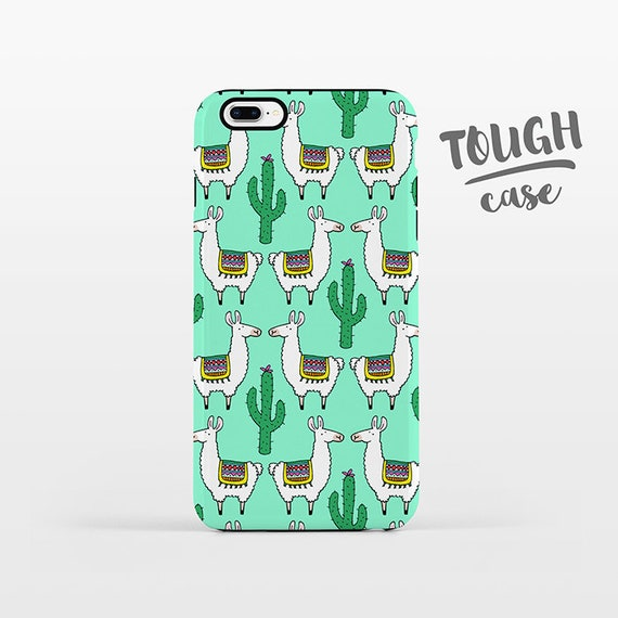 Llama Cactus Phone Case iPhone 8 Plus Case iPhone X Case iPhone 7 Case iPhone 8 Case iPhone SE Case 6 6s 5s 5c 5 4 Tropical iPhone Case