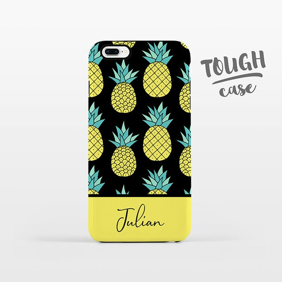 Pineapple NAME Personalized iPhone Case Custom iPhone X Case iPhone 8 Case iPhone 7 Plus Case iPhone 6 Plus iPhone SE Tropical Phone Case