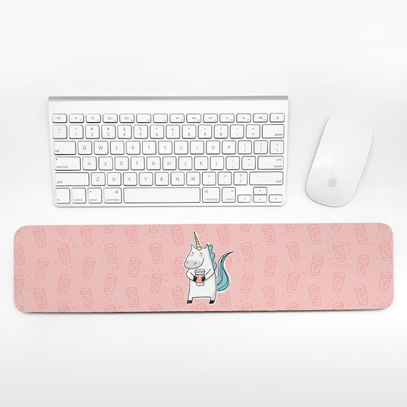 Unicorn Coffee Keyboard Wrist Rest Pad Pink Wrist Keyboard Rest Wrist Pad for Keyboard Pad Cute Desk Decor Cubicle Decor for Women Gift