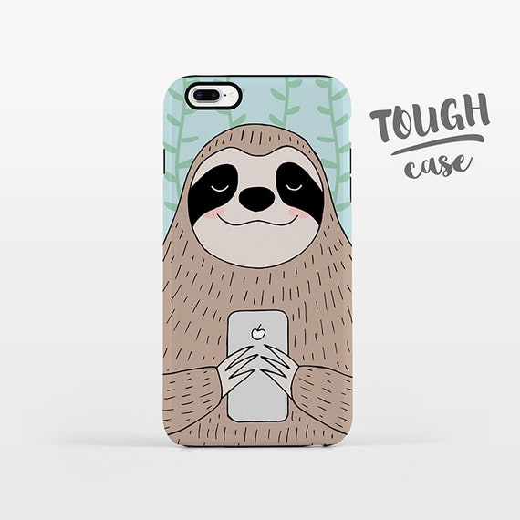 Sloth iPhone Case iPhone X iPhone 8 Plus iPhone 7 Plus iPhone 6 Plus iPhone 6s Plus iPhone SE 5 5s 5c 4 4s Cute Animal Phone Case TOUGH