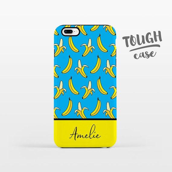 Banana NAME Custom Phone Case Personalized iPhone X Case iPhone 8 Case iPhone 7 Plus Case iPhone 6 Plus iPhone 6S Bananas iPhone Case TOUGH