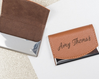 business card holder card holder business card case card case business gift engraved card case leather card case custom card holder - Business Card Case