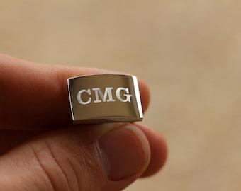 13 Pairs of Monogram Cufflinks, Personalized Cufflinks, Custom Engraved Wedding Cufflinks, Cuff Links Personalized, Groom Cufflinks