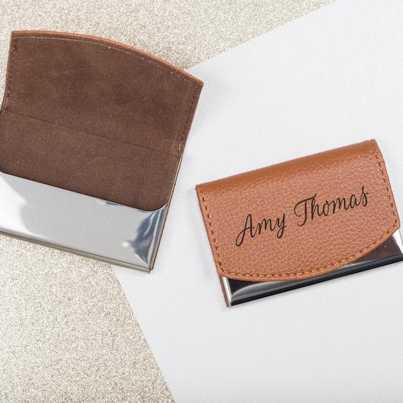 Business card holder card holder business card case card etsy colourmoves