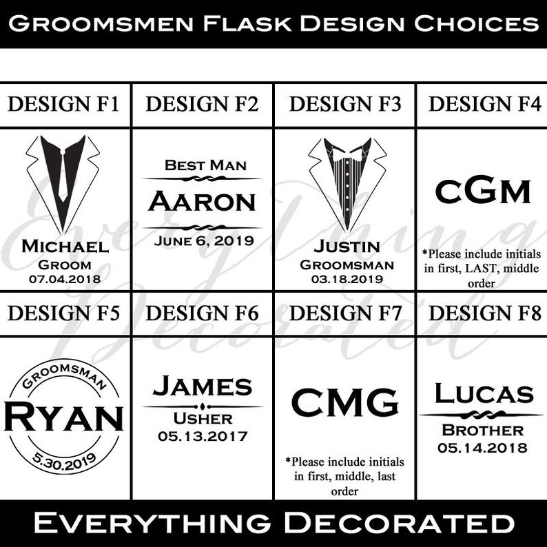 Best Man Gift Groomsmen Gift Flask Gift Set Set of 9 Personalized Shot Glasses Engraved Flask Personalized Flask Gift for Groomsmen