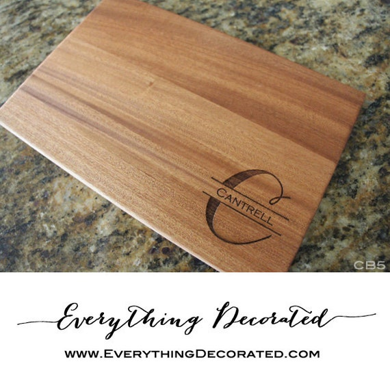 personalized cutting board engraved cutting board custom etsy. Black Bedroom Furniture Sets. Home Design Ideas