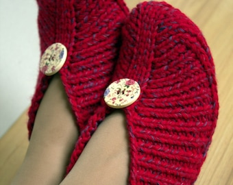 Knitted Slippers without Sewing Irena - PDF Pattern - in English Language