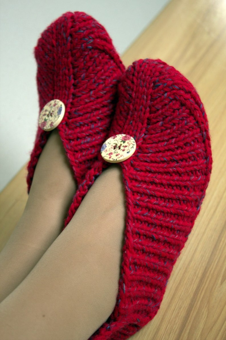 Knitted Slippers without Sewing Irena  PDF Pattern Knitting image 0