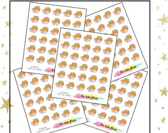 Kawaii Fish & Chips Planner Stickers