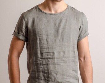 b059f44834a3dc Comfort color linen t-shirts for men