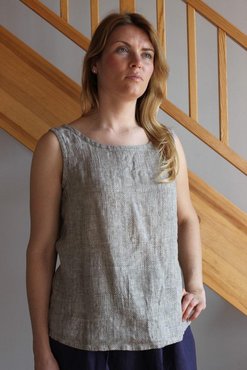 9f3d1e2b462f Linen top Linen women shirt Linen women blouse Linen tank top