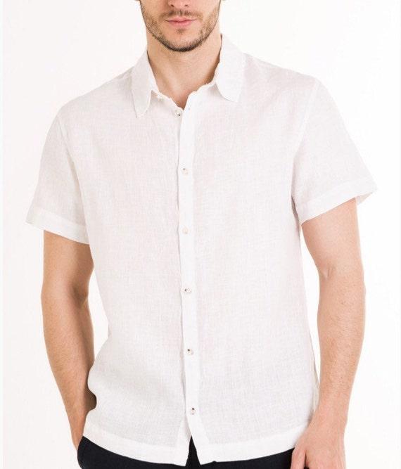 Hombre lino blanco camisa playa boda fiesta ocasión especial