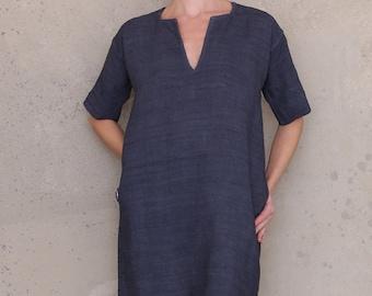 Tunic dress with pockets, PDF sewing patterns for women, shift dress pattern, linen dress pattern, tunic dress pattern, boho festival