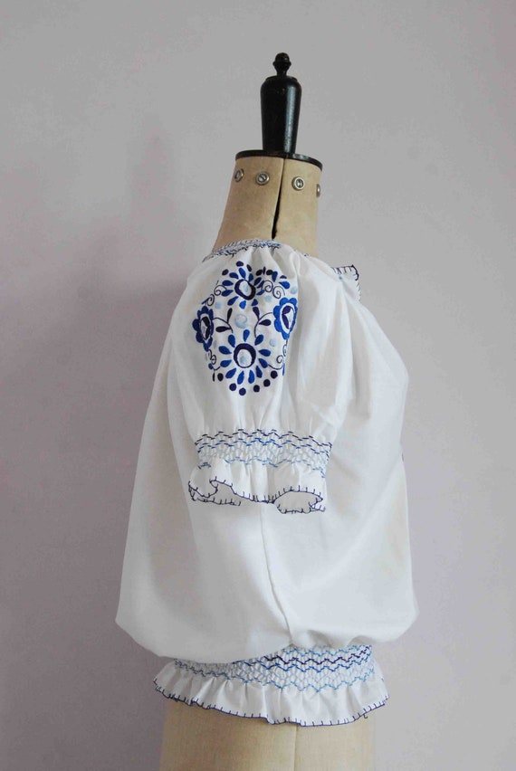 Vintage 1960s 70s 30s style embroidered Hungarian… - image 7