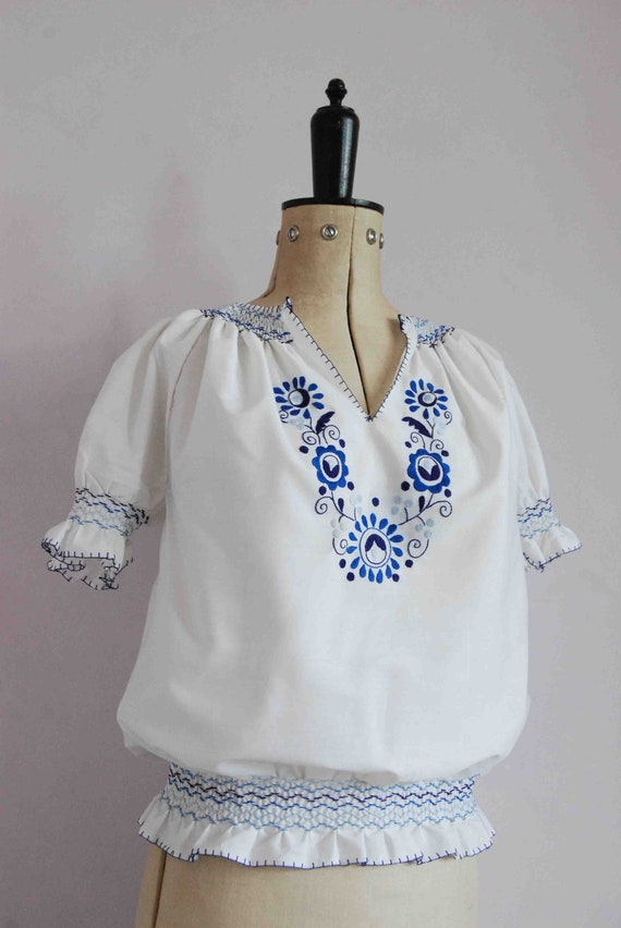 Vintage 1960s 70s 30s style embroidered Hungarian… - image 5