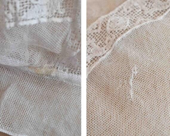 Antique Victorian white filet lace net blouse top… - image 9