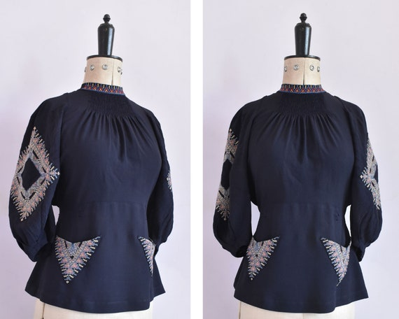 ON LAYAWAY | vintage 1930s 40s embroidered rayon … - image 1