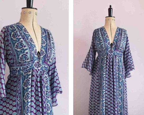 Vintage 1960s 70s Ayesha Davar Indian cotton gauze
