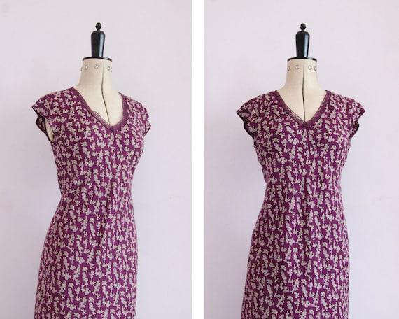 68d0d673136 Vintage 1990s rayon crepe floral lace bias cut slip dress