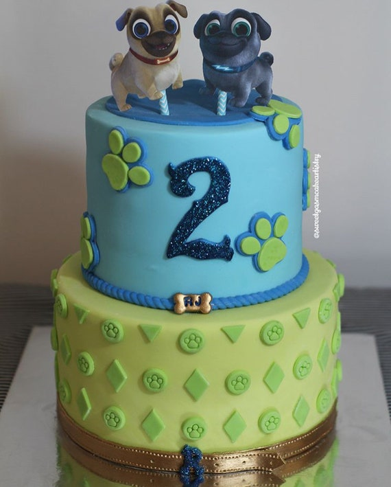 Puppy Dog Pals Cake Toppers Etsy