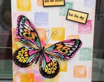 Hand crafted bold and beautiful butterfly gigantag