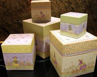 Debby Mumm Botanical Angel Stackable Boxes