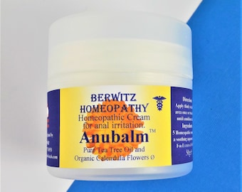 ANUBALM, ANAL ITCHING natural soothing Homeopathic Cream for Anal discomfort & Irritation for men and women 50g jar