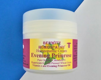 EVENING PRIMROSE CREAM, Aromatherapy for Eczema, Raw, Inflamed & Dry Skin 50g