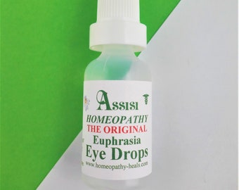 Assisi EYE DROPS, HOMEOPATHY, Euphrasia natural eye drops  for Dogs,Cats, Horses,Rabbits,Birds & Small Animals 15ml for safe  and effective