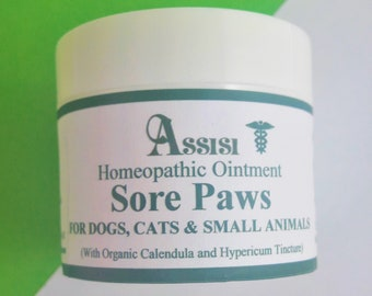 Assisi SORE PAWS Healing  Ointment - HOMEOPATHY for Dogs, Cats,Horses,Rabbits & Small Animals, Sore Pads and Paws and other areas.