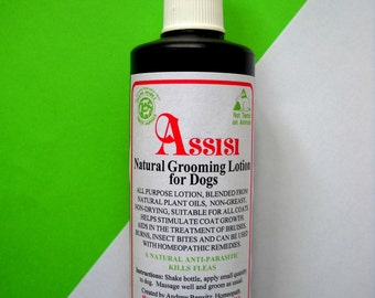 FLEA & Tick Natural Grooming Lotion 260ml For Dogs and Puppies. Homeopathy, Aromatherapy, Safe,Non -Toxic