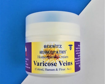 Homeopathic VARICOSE VEINS CREAM, soothing healing itch relief, plus free Arnica 6
