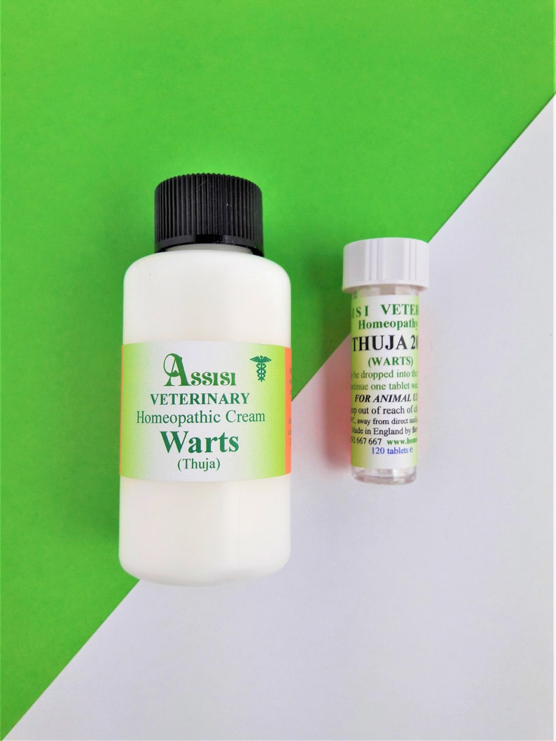 THUJA WARTS CREAM Homeopathy treatment kit for Horses and Dogs  50g cream  and Thuja 200, tablets  For Warts and Sarcoids  Safe, effective!