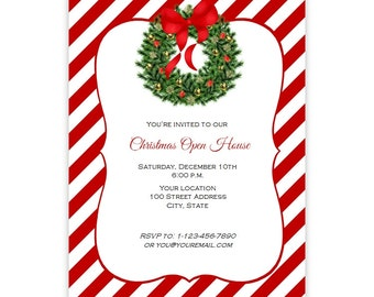 Diy christmas wreath etsy christmas invitation flyer holiday party flyer 85 x 11 holiday wreath diy printable template instant download christmas poster maxwellsz