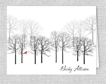 winter stationary etsy
