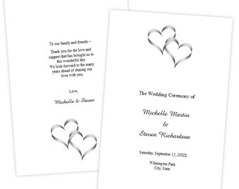 folded wedding program template christmas holly diy etsy