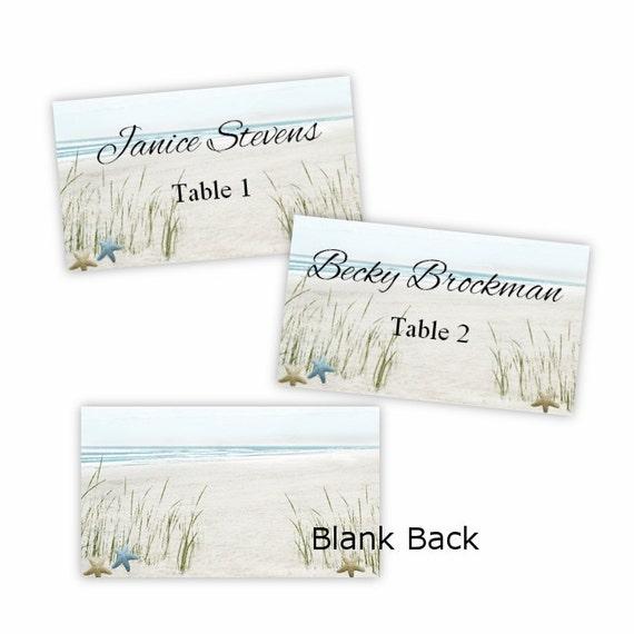 Summer Fun Beach Flat Place Cards Escort Cards DIY Etsy