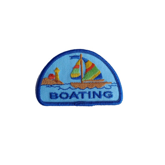 Vintage Girl Scout Boating Patch Boat Boy Scout Ra