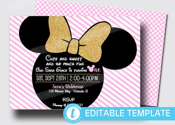 First Birthday Minnie Mouse Inspired Girls Oh Twodles