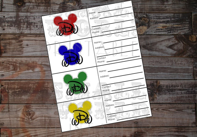 picture regarding Disney Luggage Tags Printable titled Fast Obtain Greatest Disney World wide Getaway Planner Package - Baggage Tags Electronic Printable. Designing a Disney Holiday?
