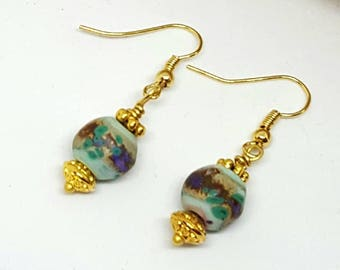 Golden Monet Earrings - Golden Earrings - Monet Earrings - Gifts for Her