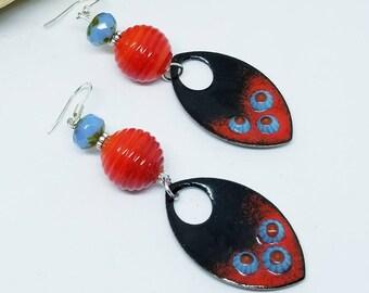 Red Bohemian Festival Earrings - Red Earrings - Bohemian Earrings - Festival Earrings - Festival Jewelry - Bohemian Jewelry