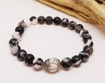 Tibetan Men's Bracelet - Men's Jewelry - Men's Bracelet - Tibetan Bracelet - Stretch Bracelet - Gifts for Guys