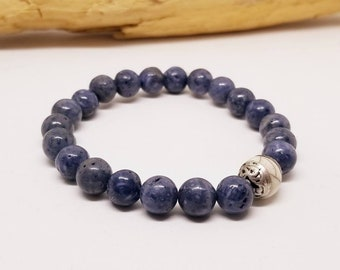 Tibetan Blue Coral Bracelet - Tibetan Bracelet - Blue Coral Bracelet - Stretch Bracelet - Gifts for Her