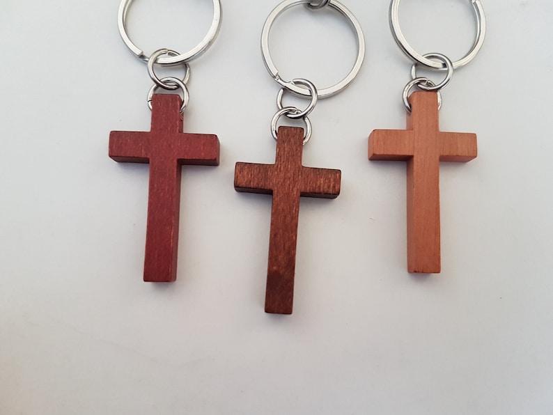 Godfather Keychain With Cross Godparent Baptism
