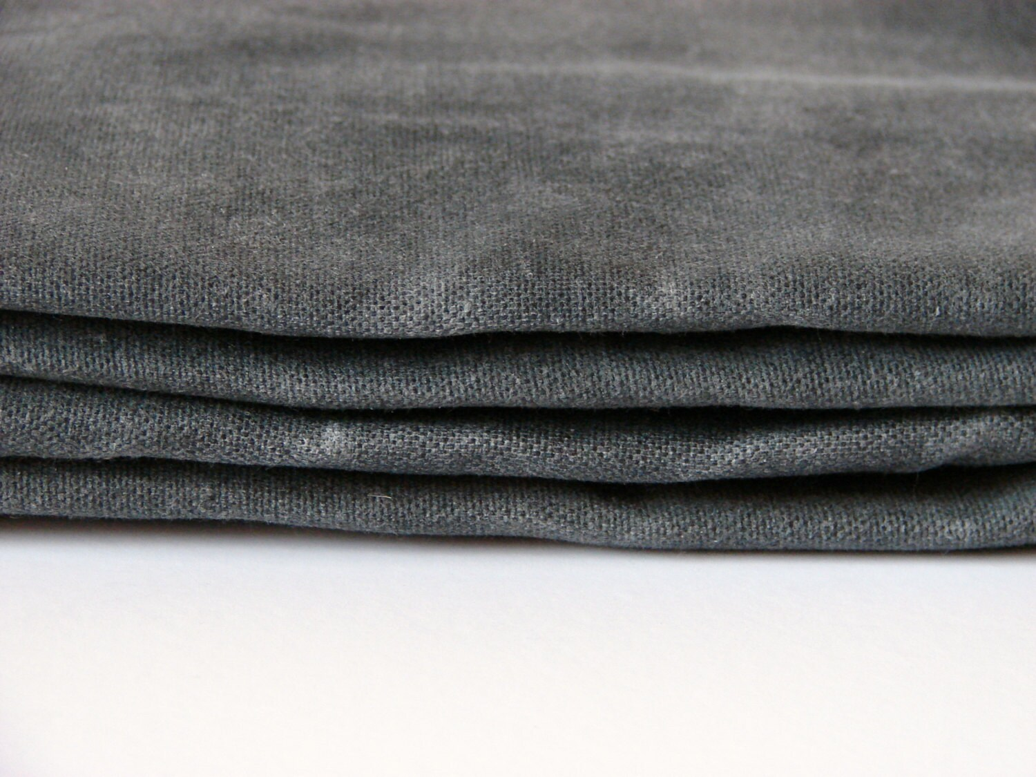 Hand Waxed Cotton Canvas Fabric Graphite Grey 10oz Etsy