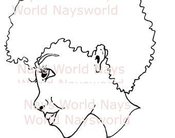 Digital Stamp, Shy, Female Digi Stamp,Stamps, Female digital stamp