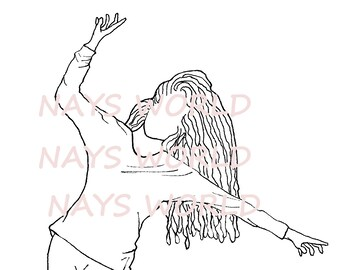 Digital Stamp,Woman on a Wire, Female , Tightrope,  Digi Stamp,Stamps, female digital stamp