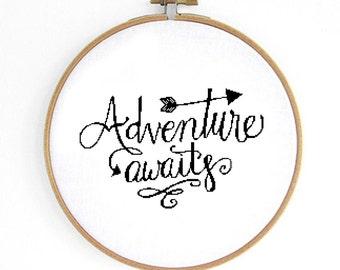 Adventure Cross Stitch Pattern