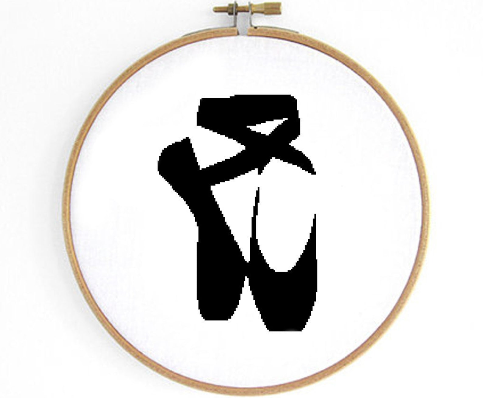 ballet shoe cross stitch pattern